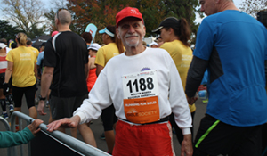 Mel Bowen - a volunteer legend - about the run a marathon to raise funds for Bibles.