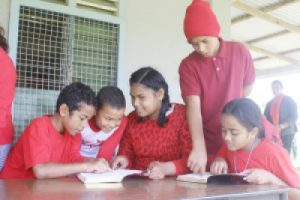 Tonga Children Reading Bible