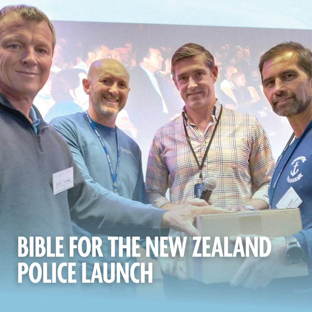 Bible for the NZ Police launch
