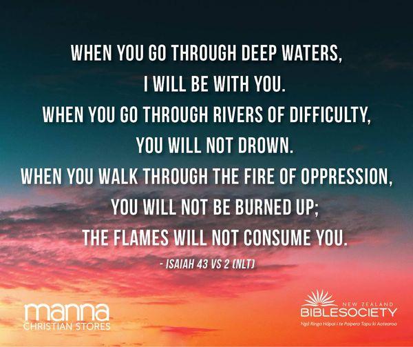 Isaiah 43 VS 2 (NLT)