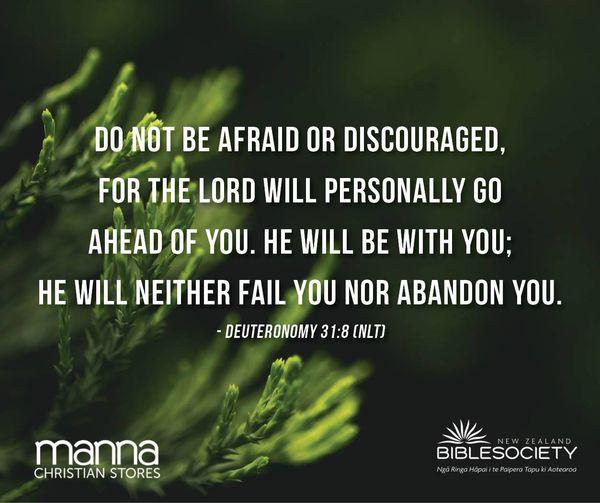 Deuteronomy 31:8 (NLT)