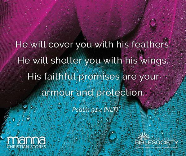 Psalm 91.4 (NLT)