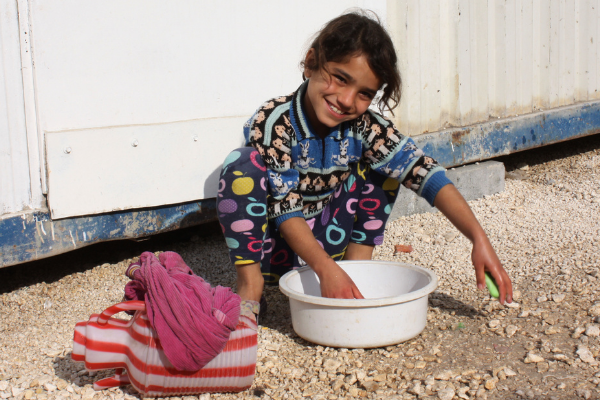 Girl at Syrian refugee camp in Turkey.